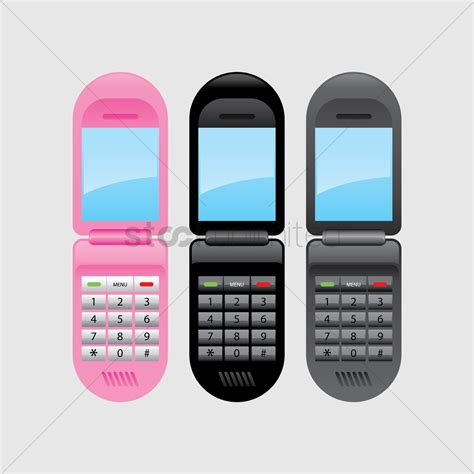 mobile phone set set of mobile phones vector image 1271773 stockunlimited