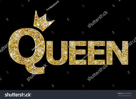 Kqueen Gold vector illustration gold text stock vector 332858540