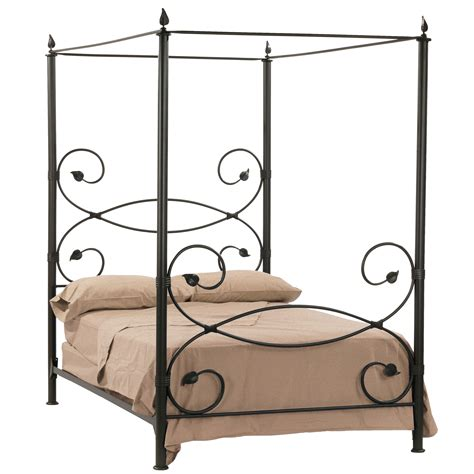 rod iron bed leaf canopy bed