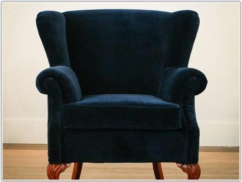 navy blue velvet wingback chair navy blue velvet tufted sofa sofa home furniture ideas