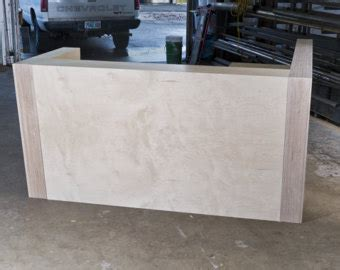 Plywood Reception Desk Ada Reclaimed Reception Desk With Metal Wrap