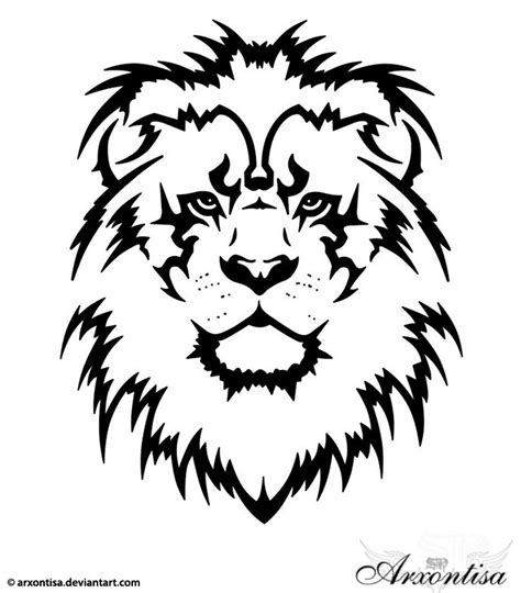 tribal lion tattoo meaning 33 best tribal stencils images on