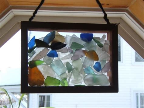 glass craft projects great idea for displaying seaglass sea glass displays