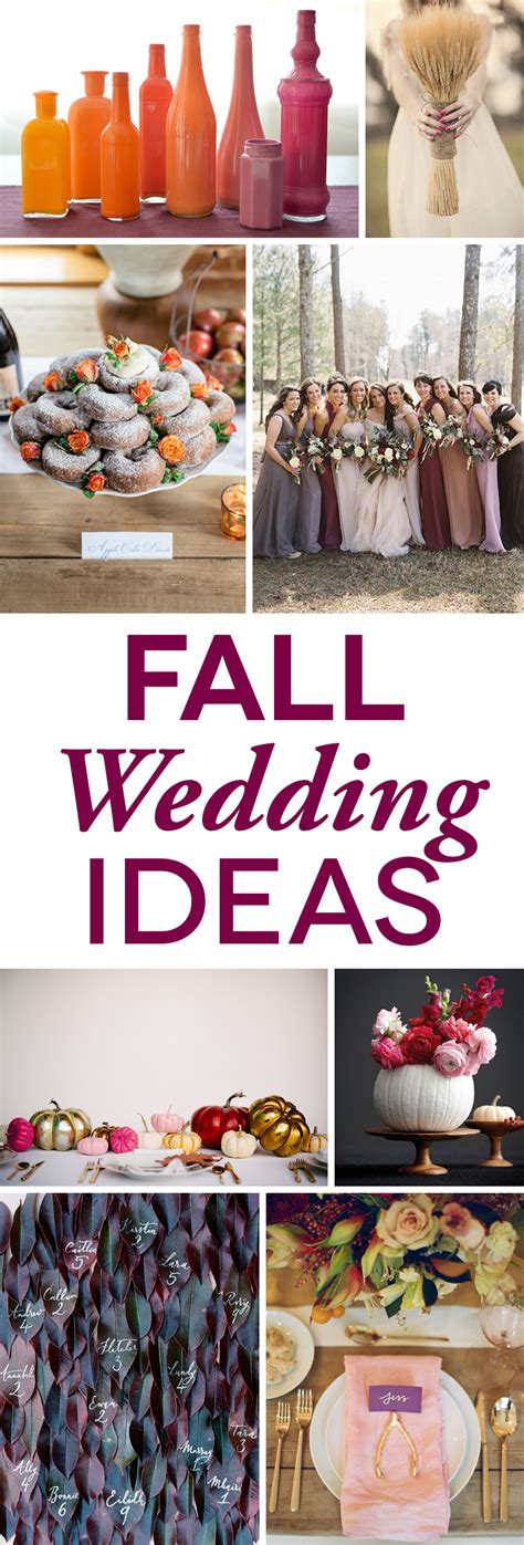 wedding ideas for fall fall weddings colors and ideas that don t scream