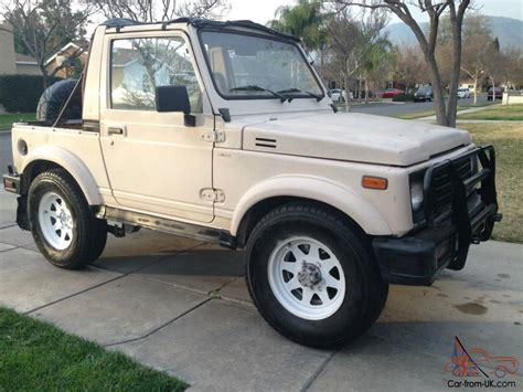 Suzuki Samurai 4x4 For Sale 1987 Suzuki Samurai Jx Air Conditioning 4x4