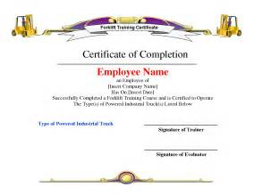 free forklift certification card template 8 best images of hours of certificate template