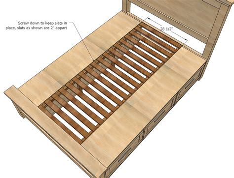 ana white build a farmhouse storage bed with storage drawers free and easy diy project and