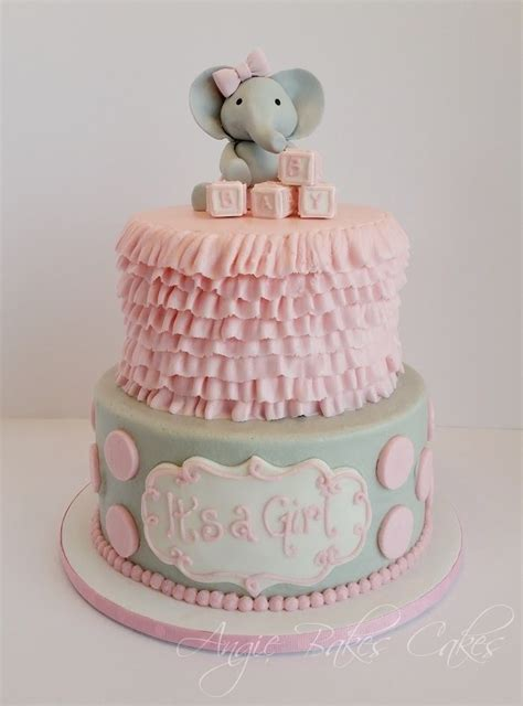pink elephant baby shower cake 17 best images about cakes for lorretta to make on