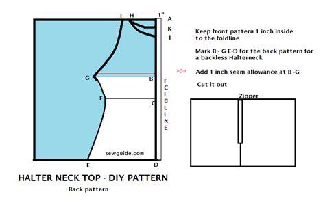 pattern drafting halter top halter neck top a diy pattern sew guide