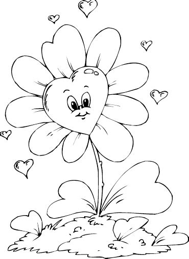 coloring pages flowers hearts flowers and hearts coloring pages