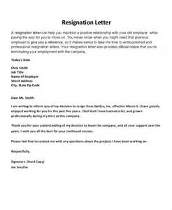 exle professional resignation letter professional resignation letters part time