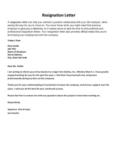 Best Resignation Letter Of All Time Resignation Letter 22 Free Word Pdf Documents Free Premium Templates