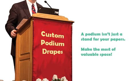 podium drape custom podium drapes from signs i design