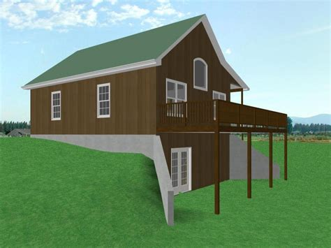 Small House Plans With Loft And Garage by Small House Plans With Walkout Basement Small House Plans