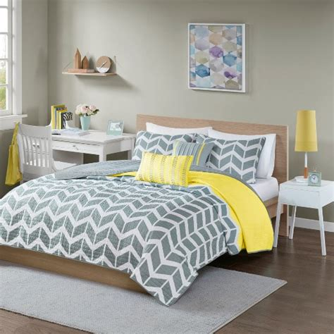 yellow quilted coverlet yellow chevron darcy quilted coverlet set king california