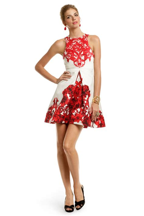 Dres Printing rococo print dress by tibi for 75 rent the runway