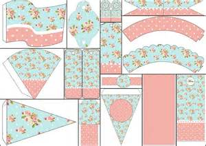 shabby chic in pink and light blue free party printables