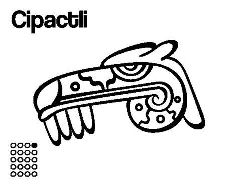 imagenes aztecas para descargar dibujo de los d 237 as aztecas el caim 225 n cipactli para