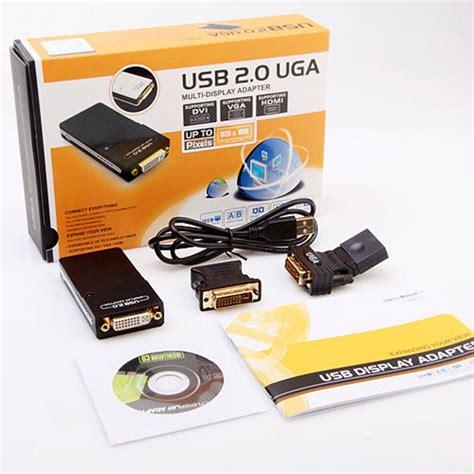 Usb 2 0 Uga Multi Display Adapter usb 2 0 uga to vga dvi hdmi multi display monitor graphic adapter converter usb to dvi usb to