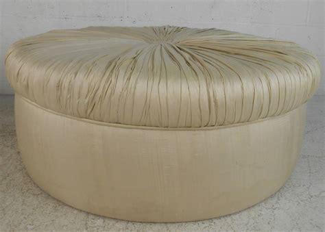 silk ottoman uniquely large mid century modern tufted silk ottoman for