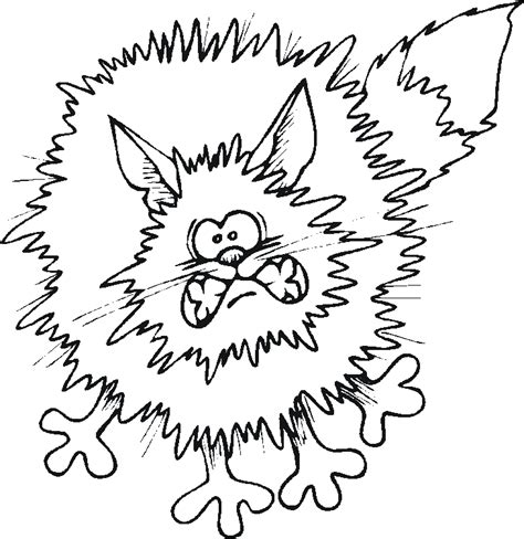 scary cats coloring pages cartoon scared cat az coloring pages