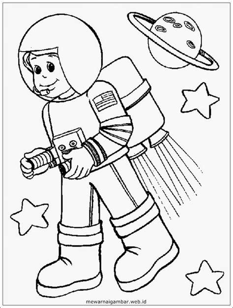 Teril Mewarnai Luar Angkasa mewarnai gambar astronot mewarnai gambar