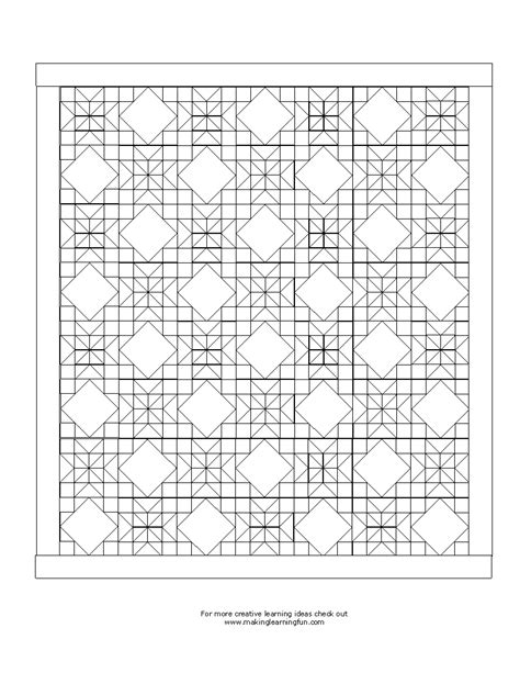 quilt coloring pages printable quilt square colouring pages