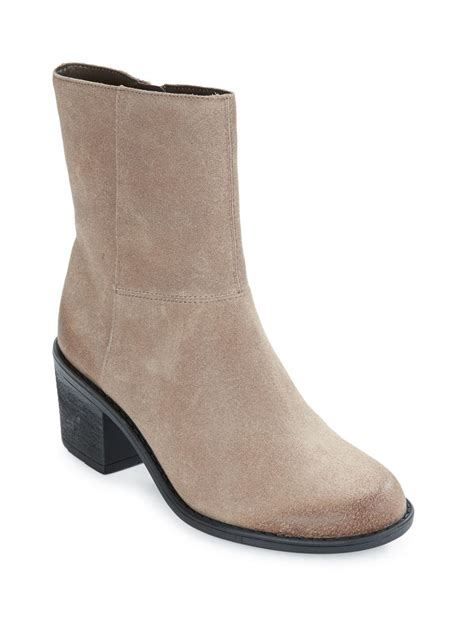 easy spirit ilsa suede ankle boots in brown lyst