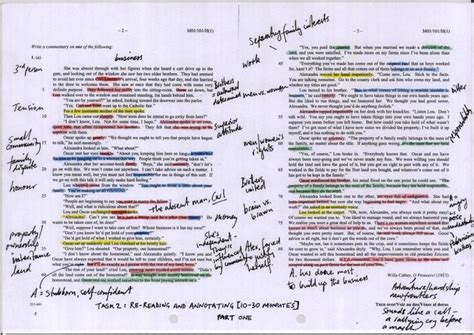 annotated text exle close reading pinterest
