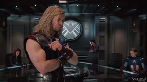 chris hemsworth on captain america movie where was the the avengers images featuring captain america collider