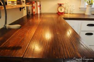 Wood Plank Bar Top Diy Wide Plank Butcher Block Counter Tops Simplymaggie