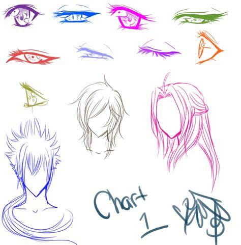 mangas anime anime and hair chart by shikiariandrinight on