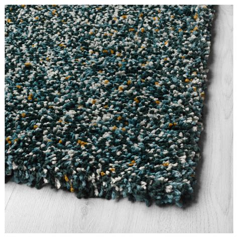 blue rugs uk vindum rug high pile blue green 133x180 cm ikea