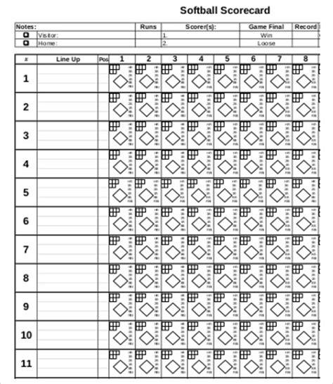 slo scoring template 12 softball score sheet templates pdf doc free