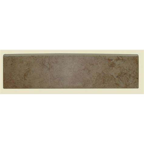 daltile brixton mushroom 3 in x 12 in ceramic surface bullnose wall tile bx03s43c91p1 the