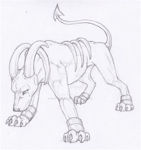 realistic pokemon coloring pages semi realistic pokemon houndoom by ice wolf elemental on