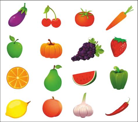 2 fruits and 5 vegetables vegetables fruit and vegetable pencil and in color