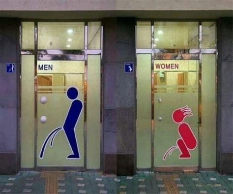 woman bathroom symbol men vs women bathroom signs giantgag