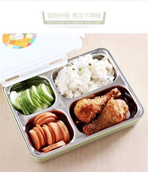 Box Bento Microwave 1 Wrna Promosi 304 stainless steel microwave thermal insulation japanese bento box food fruit container storage