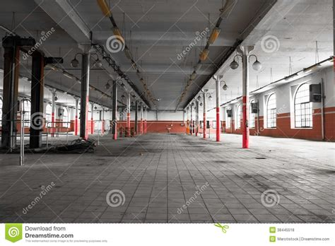 warehouse interior an old empty industrial warehouse interior royalty free