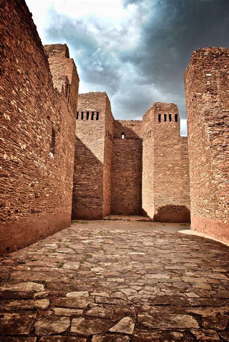 indian pueblo ruins architecture   creative market