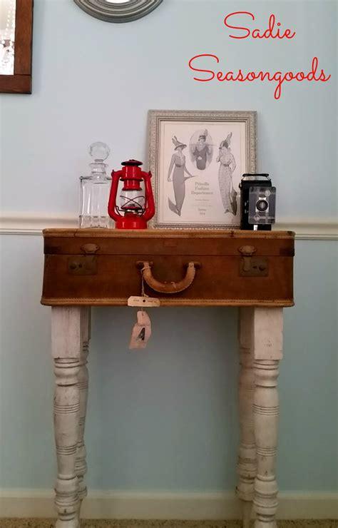 diy repurposed furniture stroovi hometalk repurposed vintage suitcase to storage table