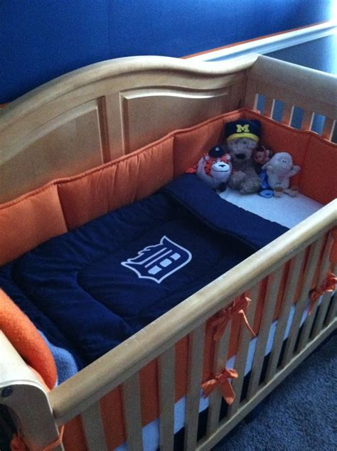Plain White Crib Skirt by Plain Bedding Set Purchased From Www Babybedding Carousel Designs Orange Bumper Navy
