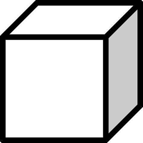 black and white clipart cube clipart black and white pencil and in color cube