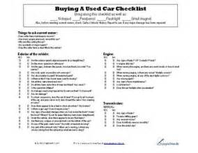 new car buying checklist pdf used car checklist cars free printable and used cars