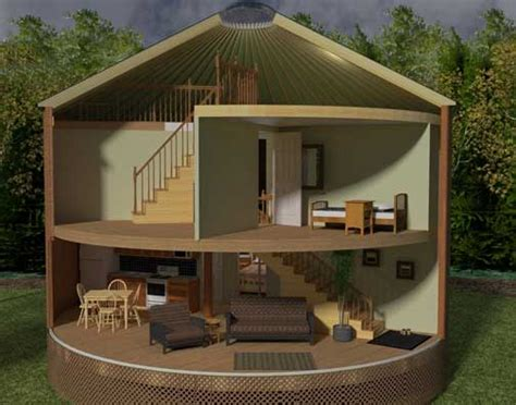 Log Cabin Floor Plans With Loft by Cedar Yurts 2 Story Option