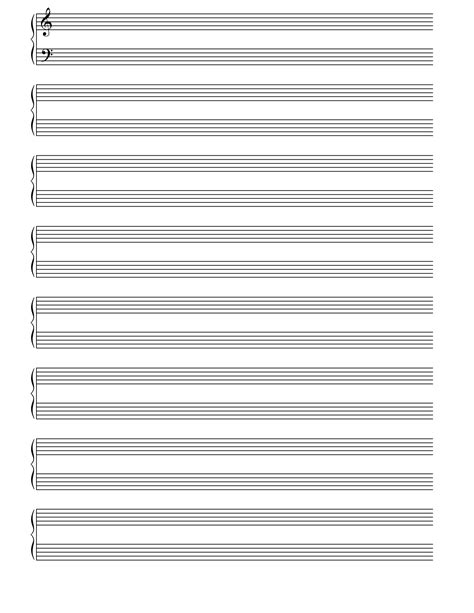 printable staff paper with notes blank music lines google search home ideas pinterest