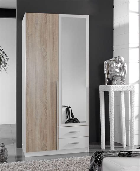 Wardrobe Toronto Furniture by Toronto 2 Door And 2 Drawer White And Oak Effect Wardrobe