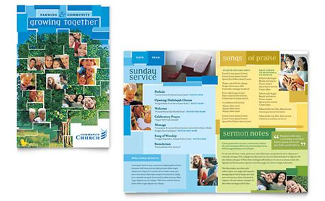 church marketing brochures flyers graphic designs