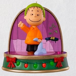 charlie brown christmas peanuts hallmark christmas ornament hooked  hallmark ornaments